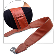 Guitar Strap real Leather Widest 9cm Electric Solid Color Instrument Straps guitar accessories