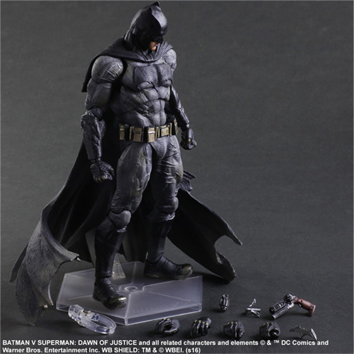 ФОТО Batman Action Figures Play Arts Kai Dawn of Justice PVC Toys 270mm Anime Movie Model Heavily-armored Bat Man Playarts Kai