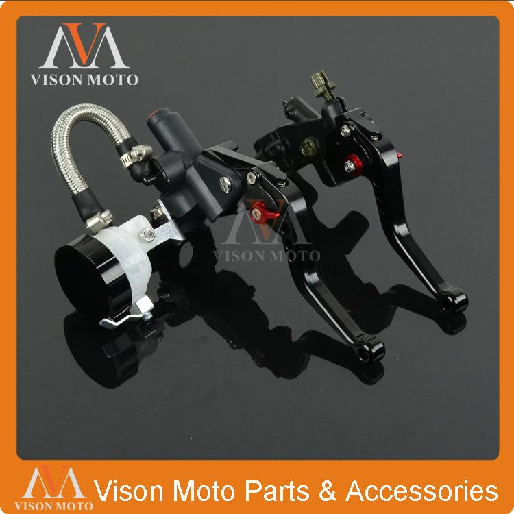 Universal CNC Brake Lever Master Cylinder With Reservoir + Cable Clutch Perch For KTM Ducati BMW Aprilia Triumph Motorcycle universal motorcycle brake fluid reservoir clutch tank oil fluid cup for mt 09 grips yamaha fz1 kawasaki z1000 honda steed bone
