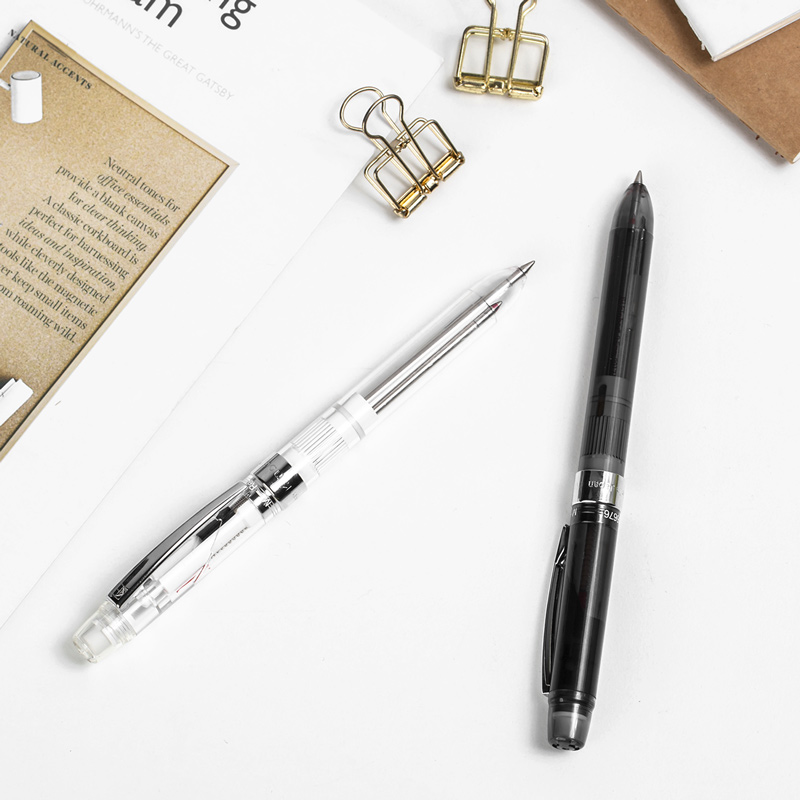 3-em-1 2 Cores Barril 0.5 milímetros de Recarga de caneta Lapiseira Esferográfica Caneta Multifuncional Escritório Corpo Leve artigos de papelaria