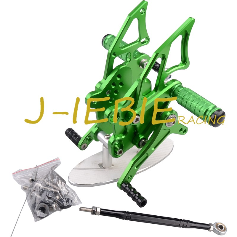 CNC Racing Rearset Adjustable Rear Sets Foot pegs Fit For Yamaha YZF R3 R25 2014 2015 GREEN cnc aluminum motorcycle accessories rearset base foot pegs rear for yamaha yamaha yzf r3 yfz r3 mt 03 mt03 mt 03 2015 2016