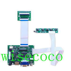 Image 5 - LCD 800*480 TTL LVDS Controller Board VGA 2AV 60 PIN für 7 zoll A070VW04 Unterstützung Automatisch Raspberry Pi fahrer Bord