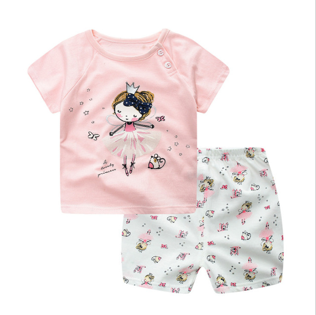 Summer Baby Short Sleeve For Clothing Boys And Girls Cotton Underwear Suit For Children Two Clothes Sets For Babies 1