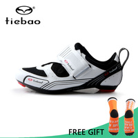 Tiebao Triathlon Professional Men Cycling Shoes Breathable Road Bike Bicycle Self Lock Shoes Racing Athletic Sneakers zapatillas