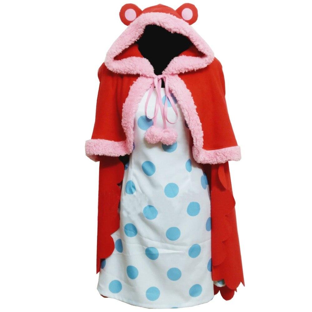 2018 une pièce sucre Cosplay Costume personnalisé n'importe quelle taille cape avec robe