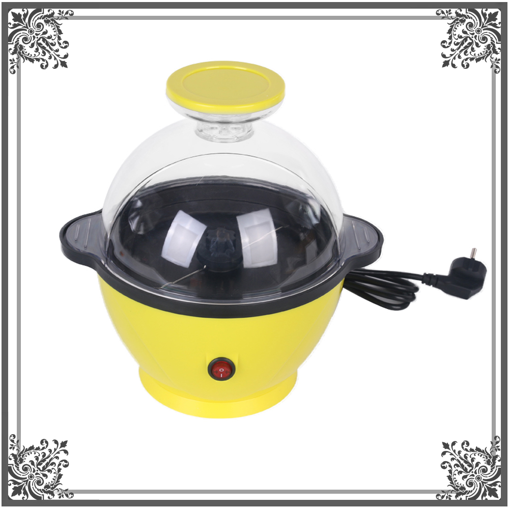 Electric Popcorn Maker Yellow Automatic Machine Corn Mini Household Popper Natural Healthy Popcorn pop 06 economic popcorn maker commercial popcorn machine with cart