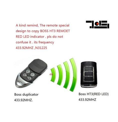 For BOSS HT3 433.92MHZ ,N31225 boss garage door remote control replacement DHL free shipping boss cs 3