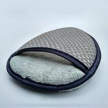 Esponja aplicadora de cera de microfibra para el coche, esponja para pulir y quitar el maquillaje, almohadilla de fácil lavado para el coche