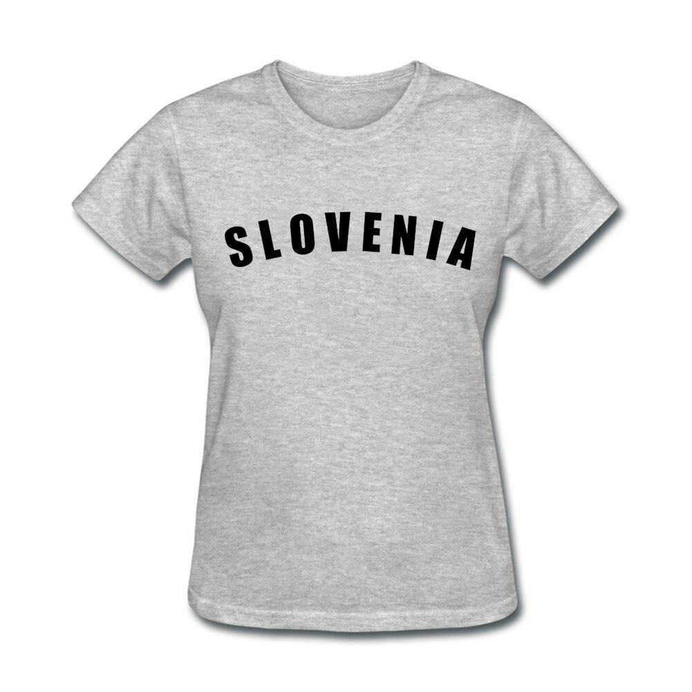 Design t shirt maker - Women Logo Design T Shirt With Slovenia Black Online Tee Shirts Maker For Womens Red Costumes