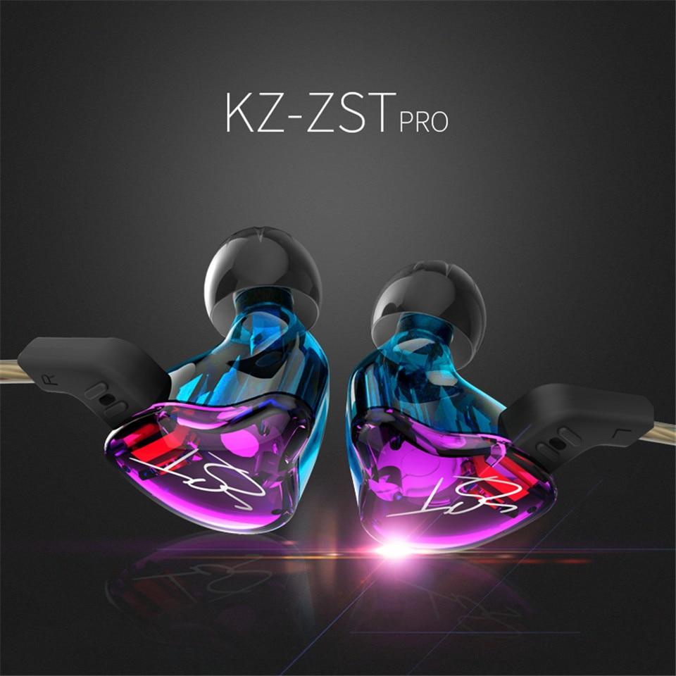 KZ ZST Armature Dual Driver Earphone Detachable Cable In Ear headset Audio Monitors Noise Isolating HiFi Music Sports earphone наушники kz zst armature со встроенным микрофоном