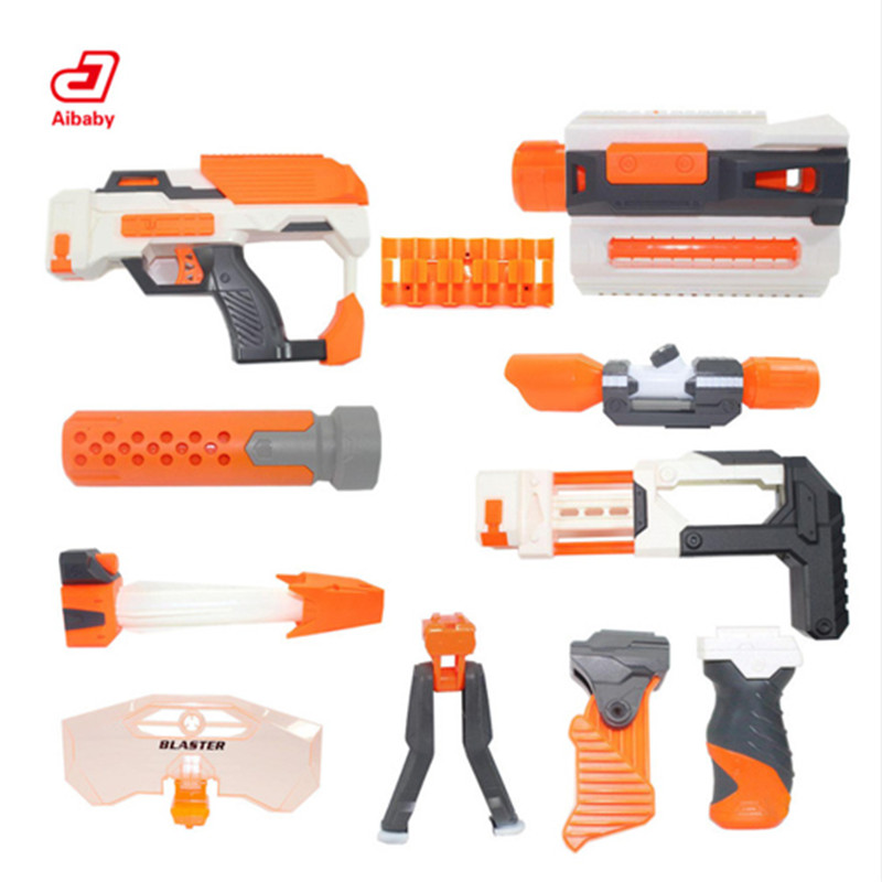 Tactical Toy Gun Modification Accessories Component For Nerf N-strick Seises Blasters Kid Mini Gun Toys Outdoor
