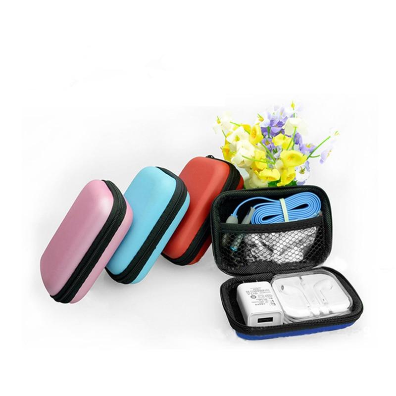 Digital Storage Bag Mobile Phone Data Cable Charger Cable Organizer Bag Portable Zip Lock Organizer Case Mini Zipper Bag