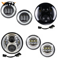 Yait Round 7inch led headlight Passing Lamp 4.5 Inch LED Fog Lights for Road Glide Road King Street Glide