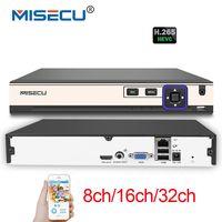 MISECU NEW H 265 5MP 8CH 16CH 1080P 32CH 2 SATA HDD Ports NVR XMEYE ONVIF