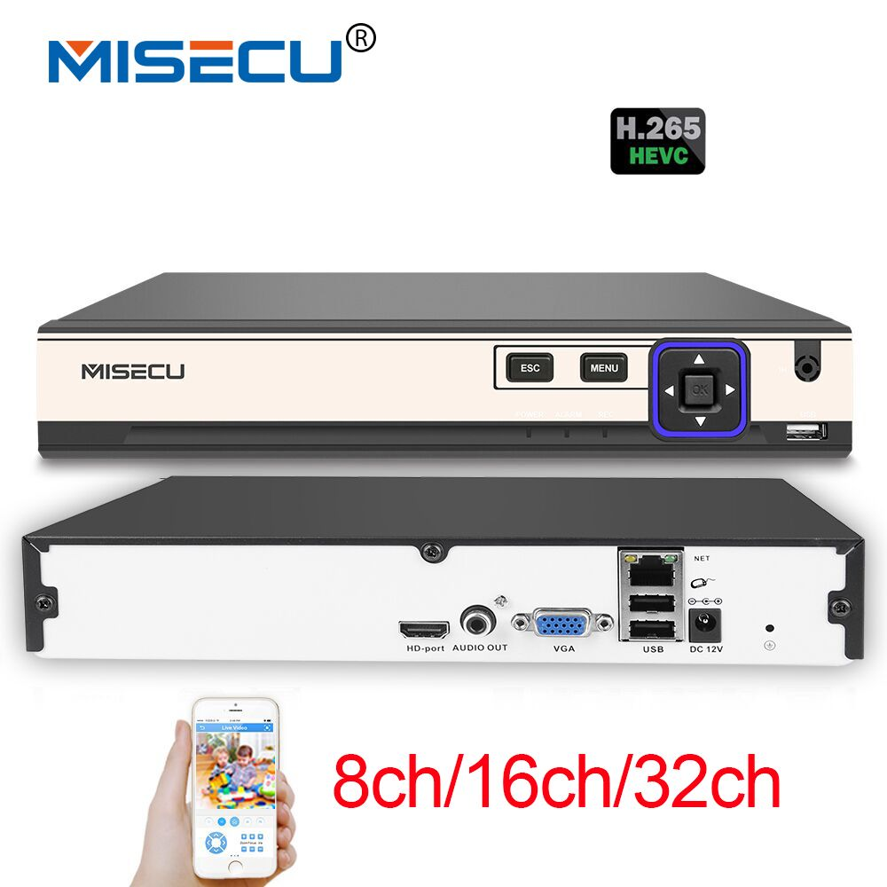MISECU NEW H.265 5MP 8CH/16CH 1080P 32CH 2 SATA HDD Ports NVR XMEYE ONVIF P2P Motion Detection HDMI VGA CCTV Video Recorder hikvision ds 7716ni i4 ds 7732ni i4 12mp 16ch 32ch nvr security surveillance digital video recorder onvif protocol 4 hdd ports