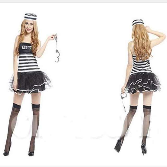 Halloween Costumes Sexy Female Prisoners To Work Uniform Cosplay ...