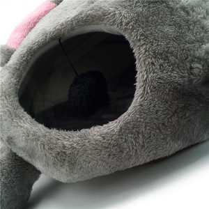 Image 3 - Gray Mouse Cat House Bed Portable Warm Cat Cave Bed Removable Bottom Waterproof Soft Suitable Pet Dog Cushion Cat Bed House
