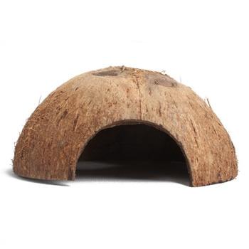 Fily Way Natural Hermit Crab Hut Real Coconut Shell Cave Aquarium Creature Habitat Fish Tank Decorations 1