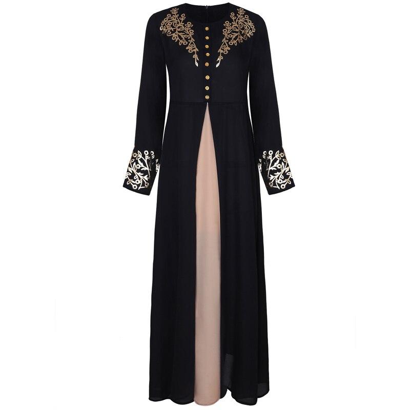 MISSJOY Dubai kaftan Dress Muslim Party Abaya Women Arabic Lace Cardigain Patchwork turkey Islam Prayer caftan marocain dresses 4