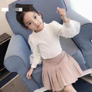 Image 2 - 2019 בנות חולצה סתיו בגדי ילדים עבור בנות 5 6 7 8 9 10 11 12 Y תחרה לבן חולצות בית ספר אחיד גדול בנות צמרות חולצה Fille