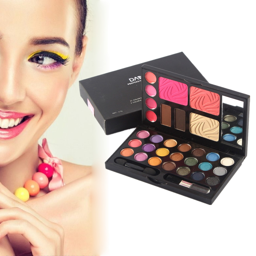 Professional Makeup Set Multi-function 21 Color Eyeshadow Palette 4 Color Lipgloss 2 Color Blusher etc. color cosmetics set