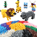 200 Pcs Building Blocks Mixed 15 Colors DIY Creative Brick Toys For Children Kids Educational Block Bricks