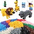 200 unids bloques de construcción mixta 15 colores diy creativo bloque de ladrillo juguetes para niños kids educational ladrillos