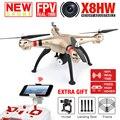 2016 nova syma x8hw pairar rc quadcopter drone fpv real-time com Câmera de 2MP WIFI 2.4G 6 Eixo RTF RC Dron Helicóptero VS X101 X102H