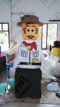 LEGO gentle man mascot costumes hot sale high quality hand make Chinese costumes