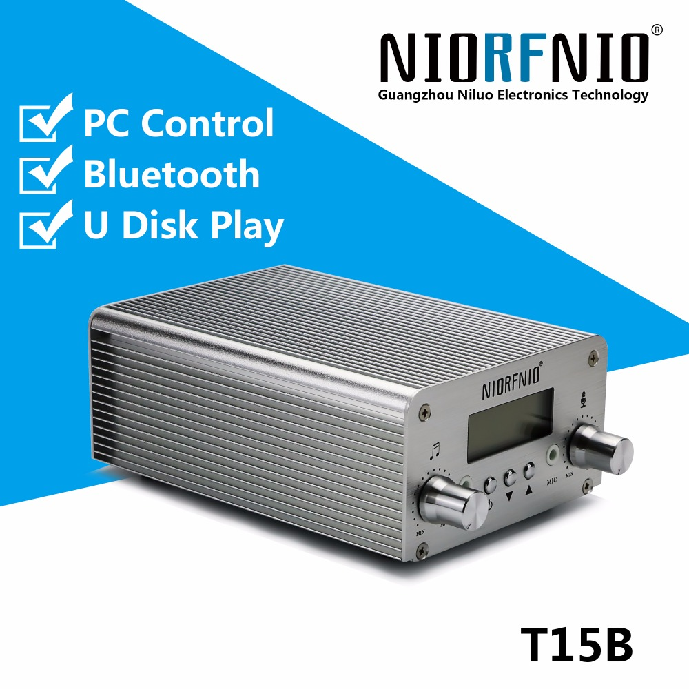 Free Shipping New Generation Upgraded T15B 1 5w/15w Stereo FM Radio Station Transmitter with PC Control New Function