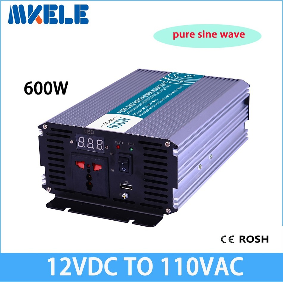 купить MKP600-121 600w off grid pure sine wave power inverter 12v to 110v voltage converter,solar inverter pure sine wave по цене 4392.64 рублей