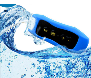 Image 1 - 003 Waterproof IPX8 קליפ MP3 נגן FM רדיו סטריאו קול 4G/8G/16G/32G שחייה צלילה גלישה רכיבה על ספורט מוסיקה נגן