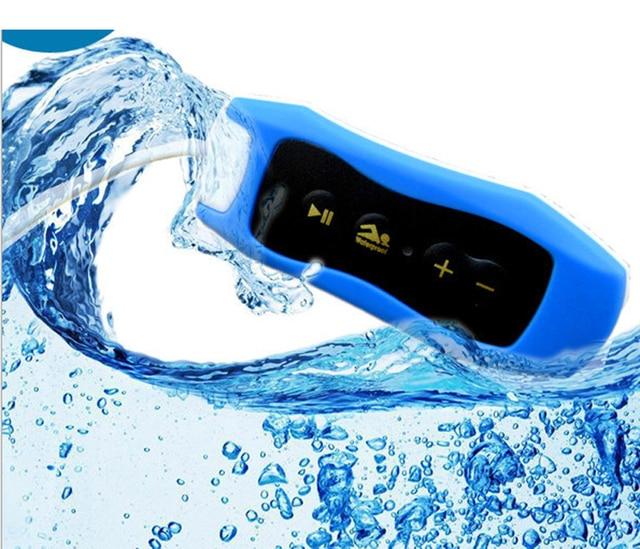 003 Waterproof IPX8 קליפ MP3 נגן FM רדיו סטריאו קול 4G/8G/16G/32G שחייה צלילה גלישה רכיבה על ספורט מוסיקה נגן