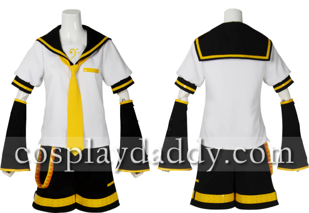 Vocaloid 2 Kagamine Len Cosplay Costume New Outfit-in Anime Costumes from Novelty & Special Use    1