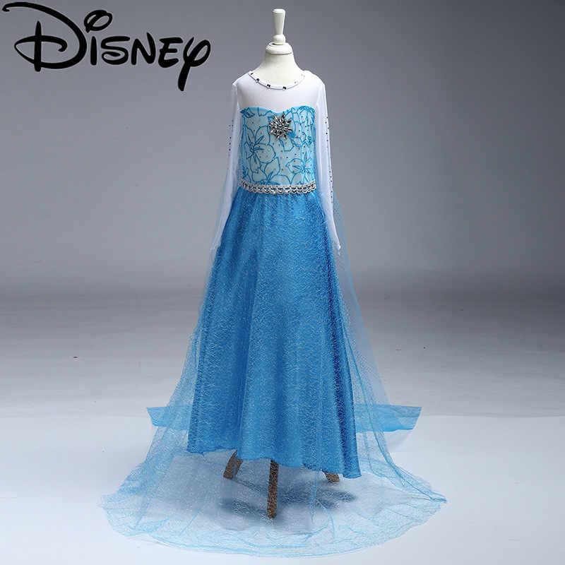 Disney Frozen Váy Đầm Trẻ Em Vải Anna Elsa Cho Bé Elsa Trang Phục Trẻ Em Mùa Hè Công Chúa Vestidos Infantis Đảng Cosplay Moana