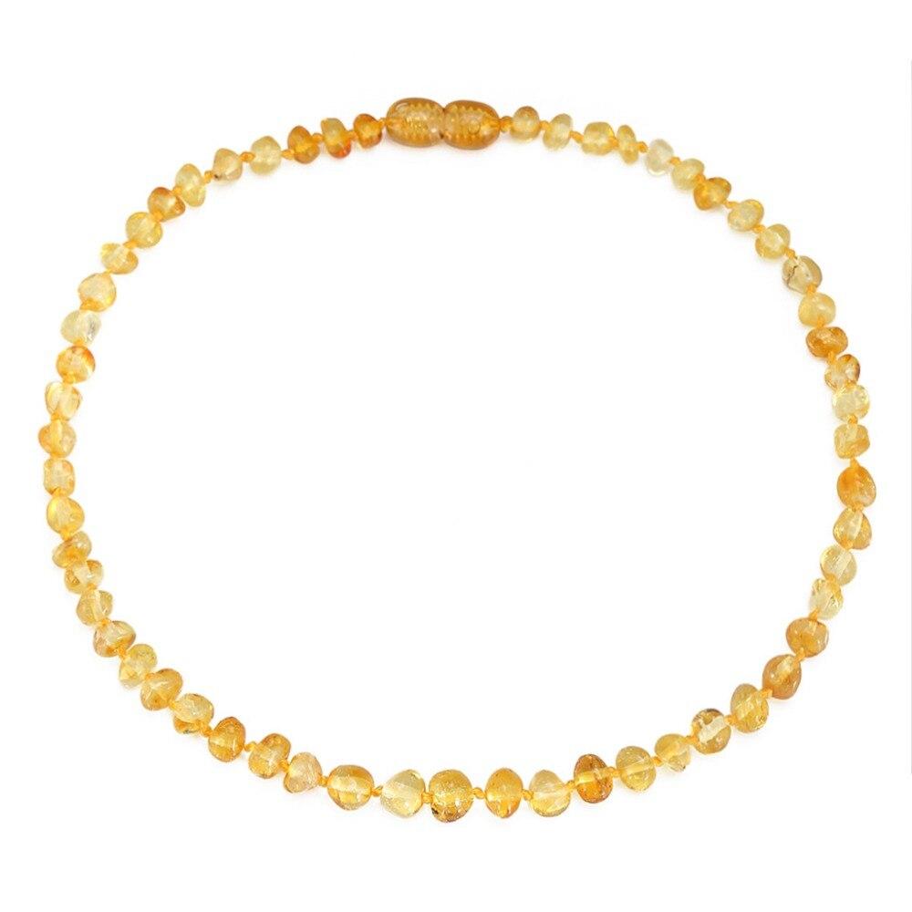 Балтийский Янтарь прорезывания зубов Цепочки и ожерелья/браслет для ребенка-простой посылка-3 размера-10 Цвета spray-лабораторную