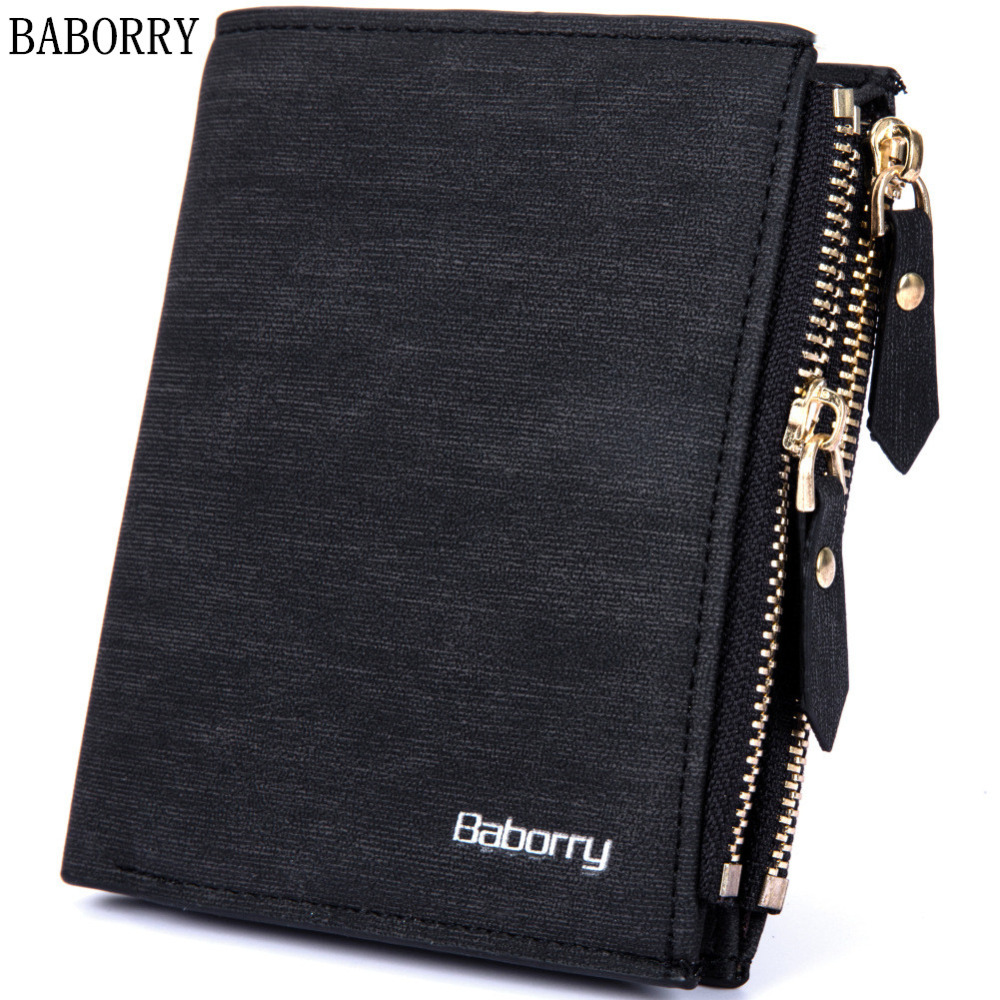 BABORRY Brand Wallet Men RFID Design Men Wallets Purse Short Male Clutch Leather Wallet Mens Money Bag Carteira Masculina baellerry small mens wallets vintage dull polish short dollar price male cards purse mini leather men wallet carteira masculina
