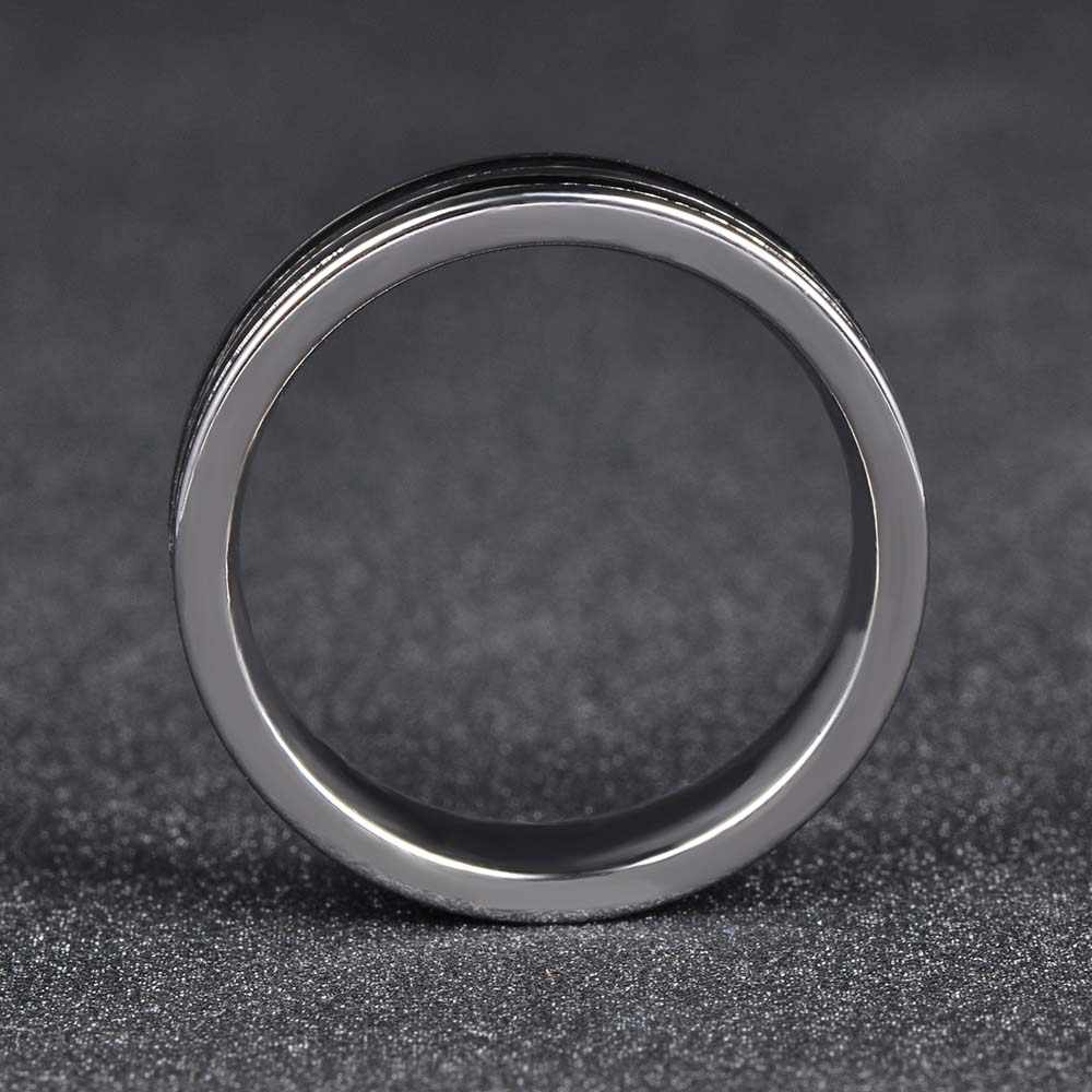 JeeMango Trendy Jewelry Ring Simple Design Hoop Titanium Stainless Steel Anniversary Rings For Women Men Anillos Mujer JR17148