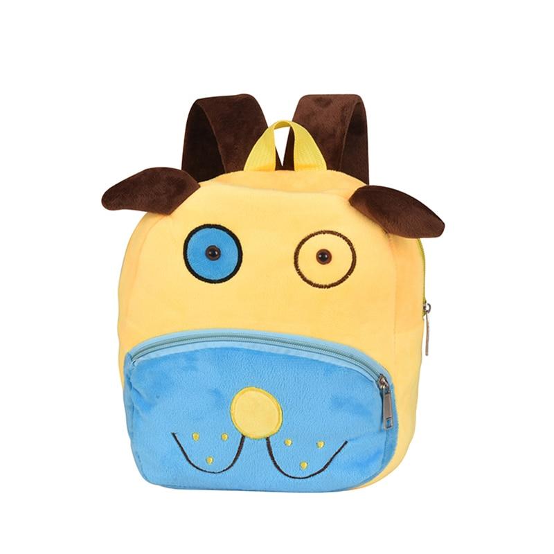 2018 Plush Children Backpacks Kindergarten Schoolbag 3D Cartoon Cows Animal Kids Backpack Children School Bags for Girls Boys