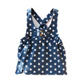 Новый Британский Стиль одежды Новорожденных Девочек Ремень Платье Хлопок Повседневная Denim Платье Следующая Одежда Стиль Скольжения Платье Милый Кролик Вышивка