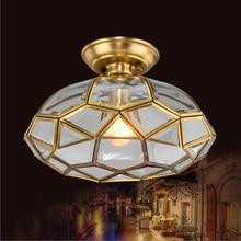 Потолочный светильник для кухни в винтажном стиле с черепахой, антикварная медная потолочная лампа для столовой, спальни, подвесной светильник E27