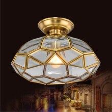 Cocina de La Vendimia de La tortuga luces de Barra de techo lámpara de techo de cobre Antiguo país comedor dormitorio Superficie E27 luz colgante