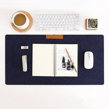 Large Mouse Pads Simple Wool 700*320 Warm Game Mat Black Grey Blue for Office Table Computer Desk Keyboard Mousepad