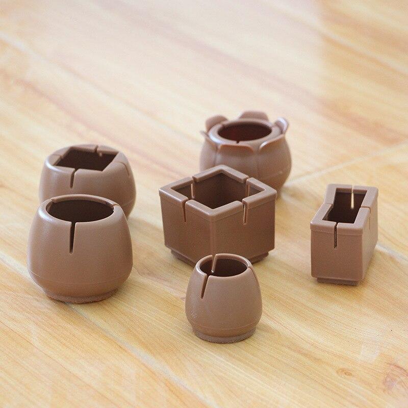 4PCS Rubber Table Chair Furniture Feet Leg Pads Tile Floor Protectors Anti-skid