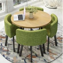 Simple reception table and chair combination negotiation shop parlor office casual round party table.