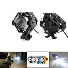 2 PCS  U5 Motorcycle Headlight Fog Night Light Bicycle Spot Lamp With Strobe Function Led Motorbike
