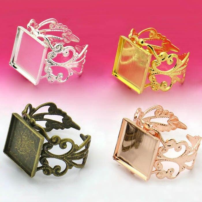 MonkeyJack 500 Pieces Tree Leaf Filigree Hollow Cut Charm Pendant DIY Jewelry Findings