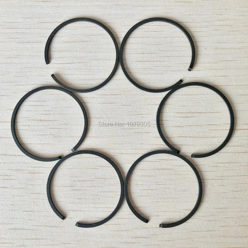 6pcs BC260 CG260 Brush Cutter Piston Rings (34mm) 1.2MM Thickness Fit For 26cc Grass Trimmer Cylinder Parts