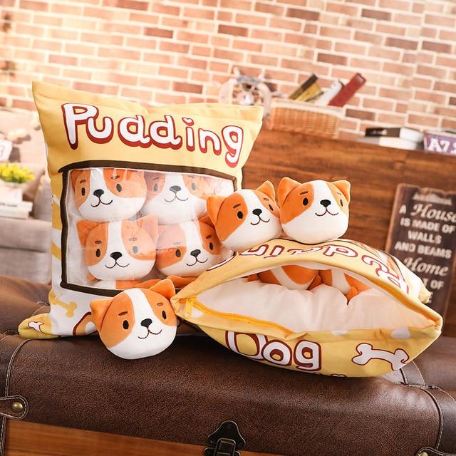 A Bag of Kawaii Shiba Inu Pudding Plushies