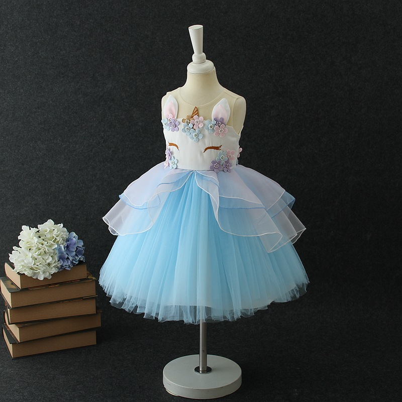 HTB1AeHmwYuWBuNjSszgq6z8jVXa0 Unicorn Dresses For Elsa Costume Carnival Christmas Kids Dresses For Girls Birthday Princess Dress Children Party Dress fantasia